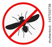 no mosquito flat design icon... | Shutterstock .eps vector #1437533738