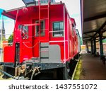 Old Fashion Red Boxcar At...