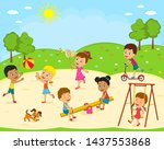 kids  boys and girls are...   Shutterstock .eps vector #1437553868
