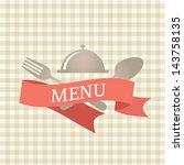 restaurant menu design. vector... | Shutterstock .eps vector #143758135