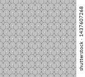 seamless art deco curling wave... | Shutterstock .eps vector #1437607268
