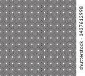 seamless art deco curling wave... | Shutterstock .eps vector #1437612998