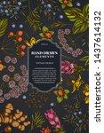 card design on dark background...   Shutterstock .eps vector #1437614132