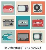 design cards with vintage... | Shutterstock .eps vector #143764225