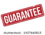 guarantee rubber stamp.... | Shutterstock .eps vector #1437660815