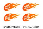 Flat Promotion Fire Banner ...