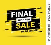 final sale banner design. 50 ... | Shutterstock .eps vector #1437692618