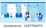 businessman hr manager meeting... | Shutterstock .eps vector #1437706475