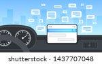 vehicle cockpit with smart... | Shutterstock .eps vector #1437707048