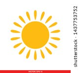 sun flat icon  vector... | Shutterstock .eps vector #1437753752
