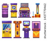 attraction park devices slot or ... | Shutterstock .eps vector #1437770462