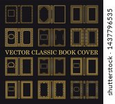 vector classical book cover.... | Shutterstock .eps vector #1437796535