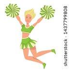 cheerleader in uniform girl... | Shutterstock .eps vector #1437799808