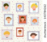 kids portraits on the wall... | Shutterstock .eps vector #143784262