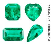 emerald isolated on white... | Shutterstock . vector #143784592