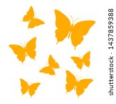 butterfly vector icon  ...   Shutterstock .eps vector #1437859388