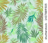 abstract seamless tropical... | Shutterstock .eps vector #1437889505