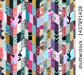 template seamless abstract... | Shutterstock .eps vector #1437891428