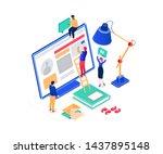 social media marketing   modern ...   Shutterstock .eps vector #1437895148