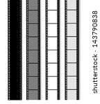 35 mm filmstrip isolated on... | Shutterstock . vector #143790838