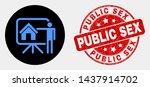 rounded realtor public report... | Shutterstock .eps vector #1437914702