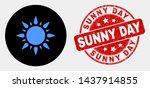 rounded sunshine icon and sunny ... | Shutterstock .eps vector #1437914855