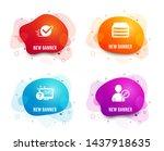 liquid badges. set of online...