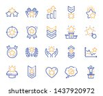ranking line icons. first place ... | Shutterstock .eps vector #1437920972