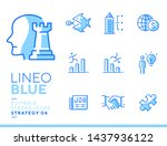 lineo blue   strategy and...   Shutterstock .eps vector #1437936122