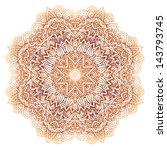 ornate vintage beige vector...   Shutterstock .eps vector #143793745