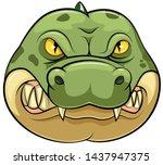 Crocodile Wild Animal Head...