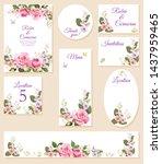 set wedding invitation cards ...   Shutterstock .eps vector #1437959465