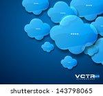 blue glass clouds modern... | Shutterstock .eps vector #143798065