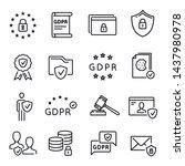 gdpr line icon  general data... | Shutterstock .eps vector #1437980978