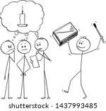 vector cartoon stick figure... | Shutterstock .eps vector #1437993485