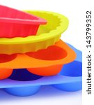 a color silicone cake form and... | Shutterstock . vector #143799352
