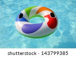 swim ring floating on a blue... | Shutterstock . vector #143799385