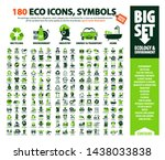 big vector set of eco icons ... | Shutterstock .eps vector #1438033838