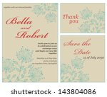 set of wedding or invitation... | Shutterstock .eps vector #143804086