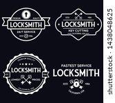 set of vintage locksmith logo ... | Shutterstock .eps vector #1438048625