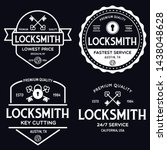 set of vintage locksmith logo ... | Shutterstock .eps vector #1438048628