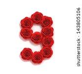 Rose Font Number 9