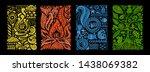 four elements concept. banners... | Shutterstock .eps vector #1438069382