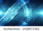 vector abstract futuristic... | Shutterstock .eps vector #1438071302