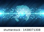 vector abstract futuristic... | Shutterstock .eps vector #1438071308