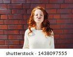 disdainful young woman... | Shutterstock . vector #1438097555