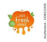 juice fresh orange label icon... | Shutterstock .eps vector #1438112435