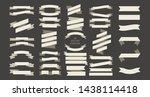 black and white ribbon.... | Shutterstock .eps vector #1438114418