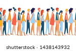 different multiethnic women and ... | Shutterstock .eps vector #1438143932