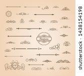 vintage set decor elements.... | Shutterstock .eps vector #1438154198